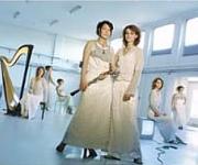 Deux Femmes stilfuld kvindelig salonmusik med harpe og obo til reception bryllup events