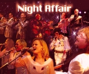 Night Affair spiller musik fra 50'erne til i dag bl.a. Beatles, Abba, Bryan Adams, Joe Cocker, Elvis, Kool And The Gang og Earth Wind & Fire