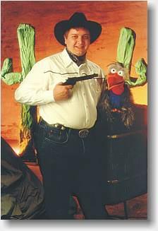 Sherif Haps og gribben Guffe børneunderholdning